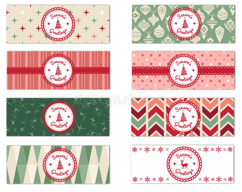 Set of 8 Holiday Theme Facebook Timeline Covers Isolated on White. Set of 8 assorted Season's Greetings Holiday theme Facebook timeline covers isolated on a royalty free stock photos
