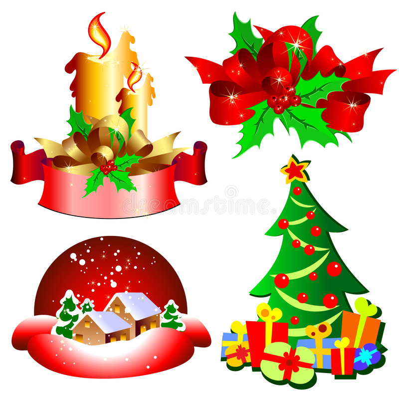 Download Set of holidays icons stock vector. Illustration of decoration - 7300601