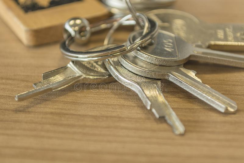 Set of home keys detailed royalty free stock images