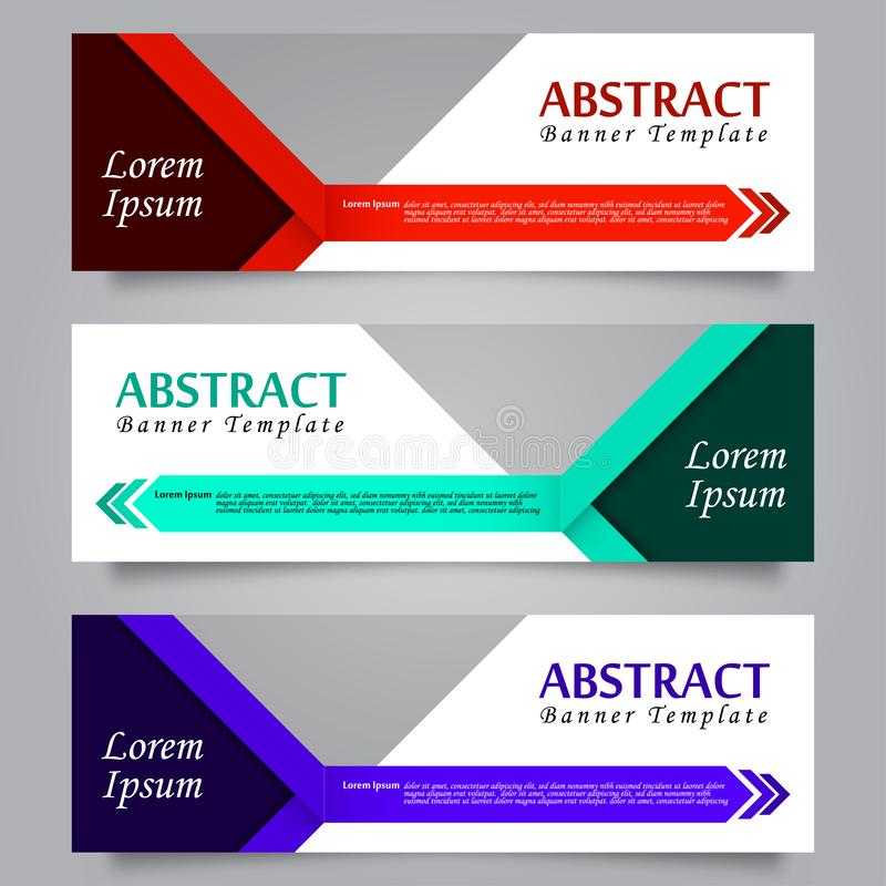 Set of Horizontal Abstract Banner Template 03 royalty free illustration