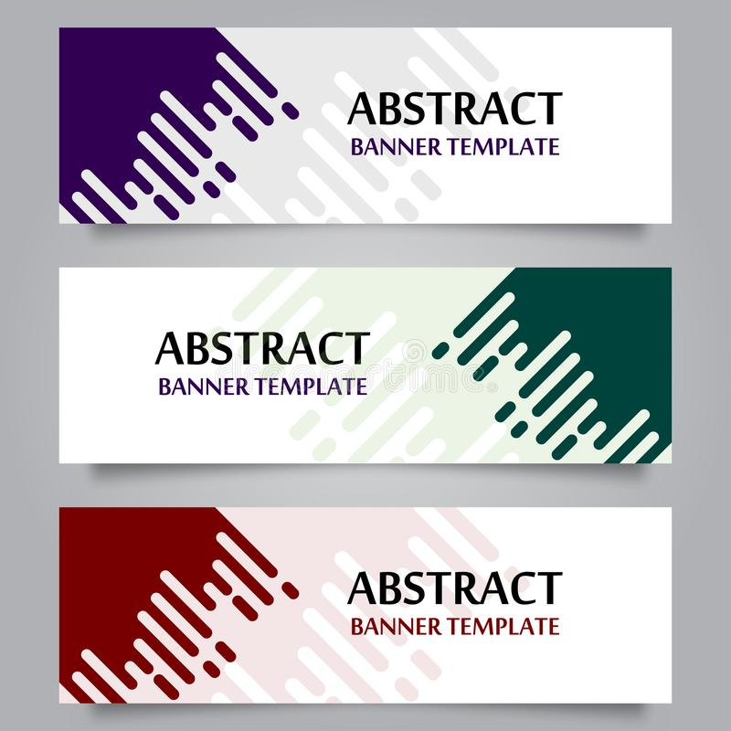 Set of Horizontal Abstract Banner Template 02 royalty free illustration