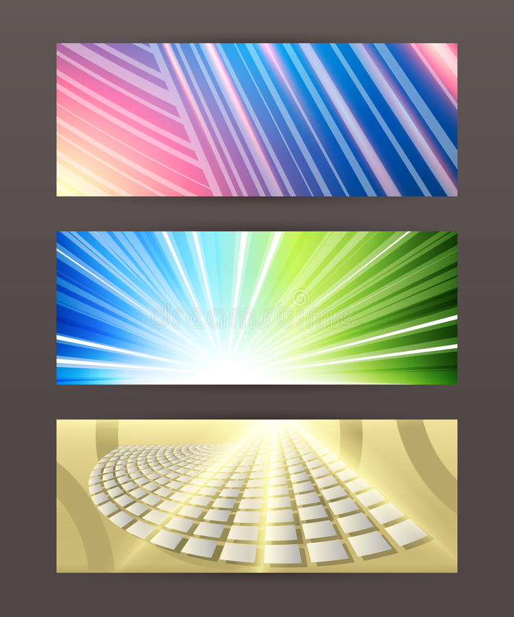 Set of horizontal banner header website36 royalty free illustration