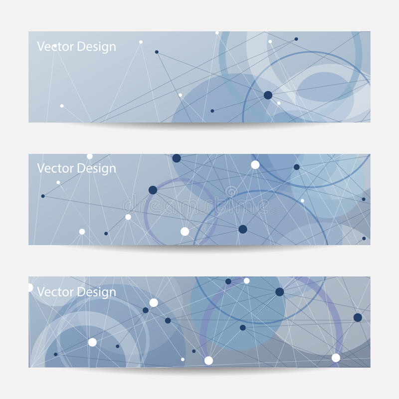 Set of horizontal banners vector illustration