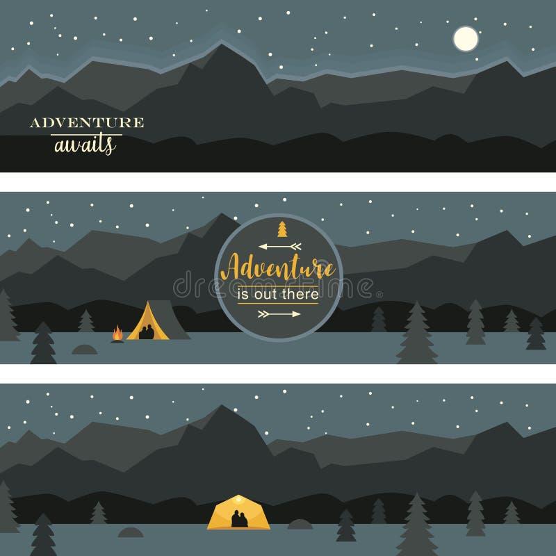 Set of horizontal banners royalty free illustration