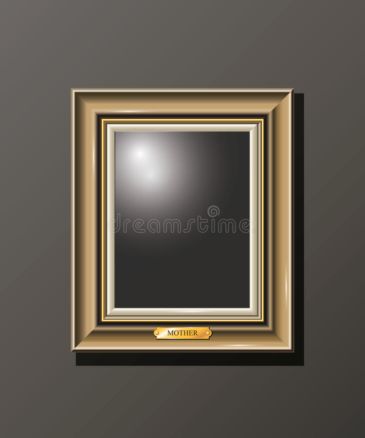 Set horizontal empty frame on the wall stock photography
