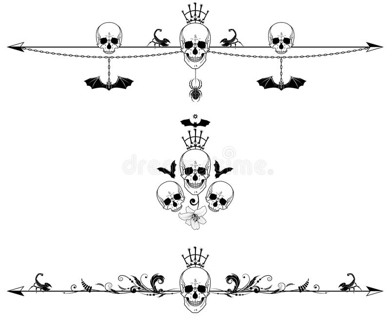 Set horror granicy royalty ilustracja