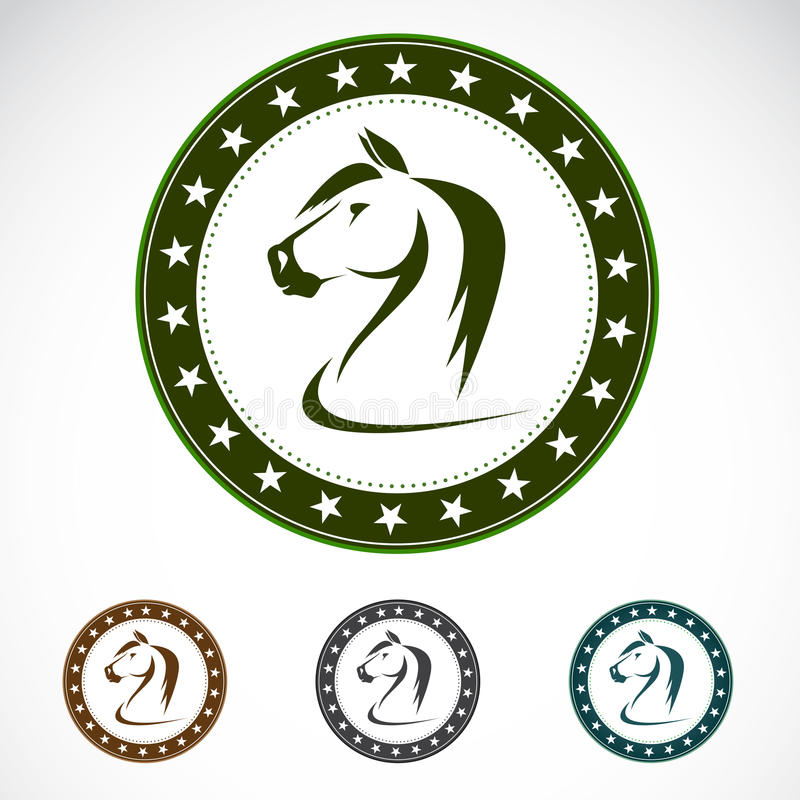 Set Of  Horse Label Royalty Free Stock Photography
