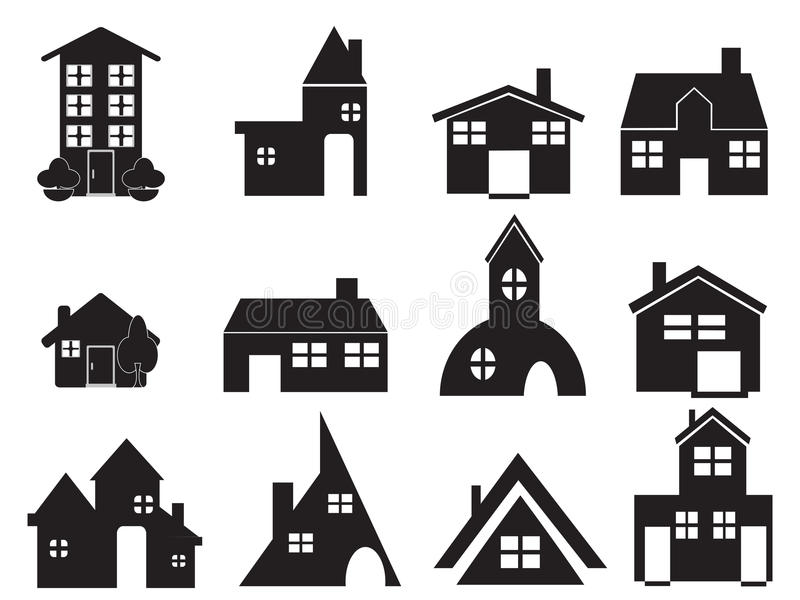 Download Set of house icons stock vector. Image of clipart, drawing - 22308262