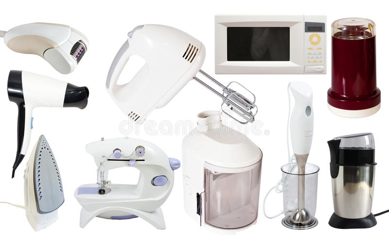 Set of household appliance royalty free stock photo