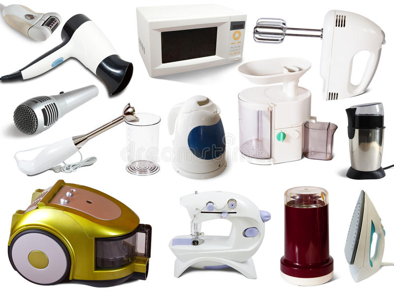 Download Set Of  Household Appliances Stock Image - Image: 20960811