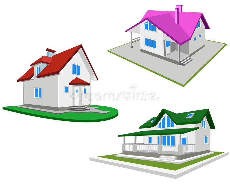 Set Of Houses Royalty Free Stock Image