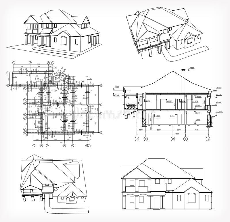 Set houses and blueprint vector stock vector illustration 35897210 download set houses and blueprint vector stock vector illustration 35897210 malvernweather Image collections