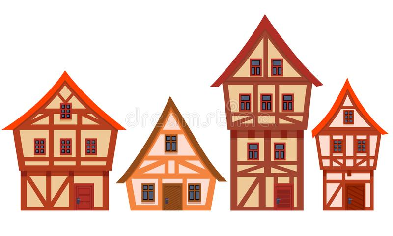 Set of houses Germany vector illustration