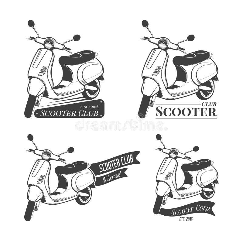 Set hulajnoga logowie royalty ilustracja