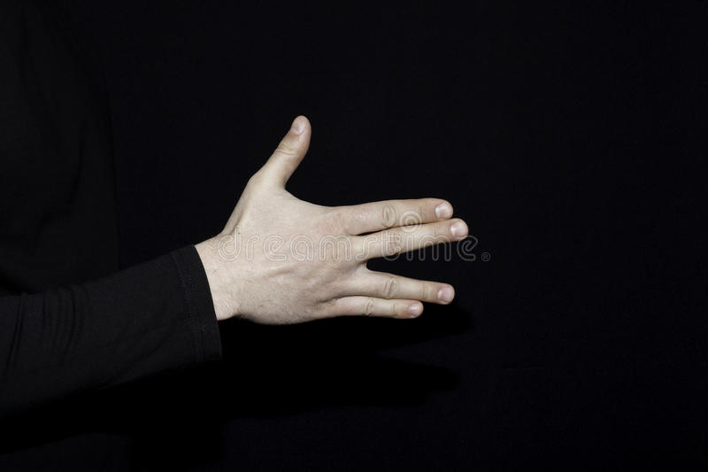 Set of human palms with gestures meaning some sign royalty free stock image