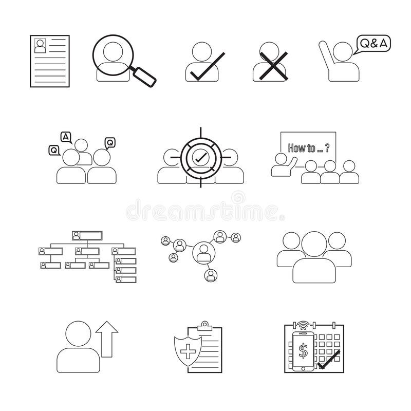 Set of human resource line icon editable stroke stock vector download set of human resource line icon editable stroke stock vector illustration of health thecheapjerseys Images