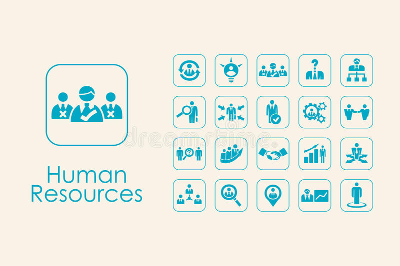 Set of human resources simple icons. It is a set of human resources simple web icons royalty free illustration