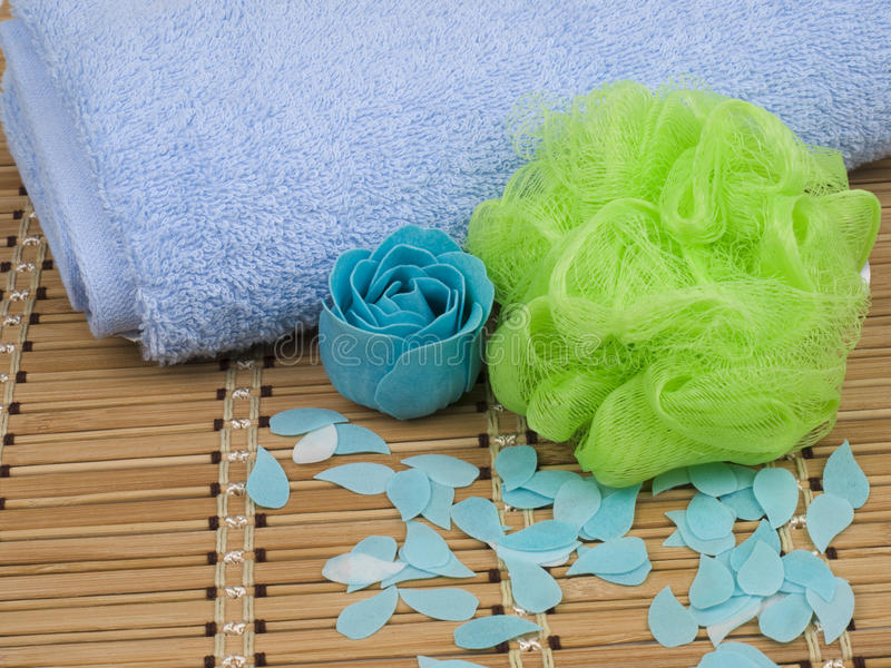 Set Of Hygienic Cleansing Supplies Royalty Free Stock Image