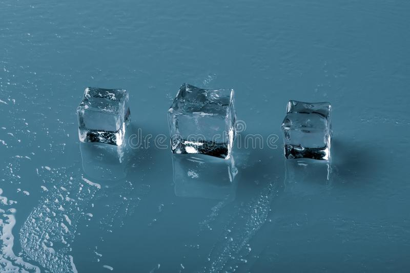 Set of ice cubes stock image