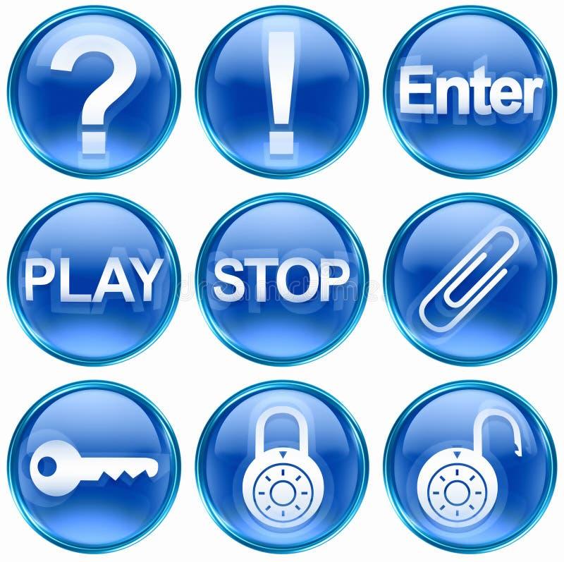 Set icon blue #05. stock photos