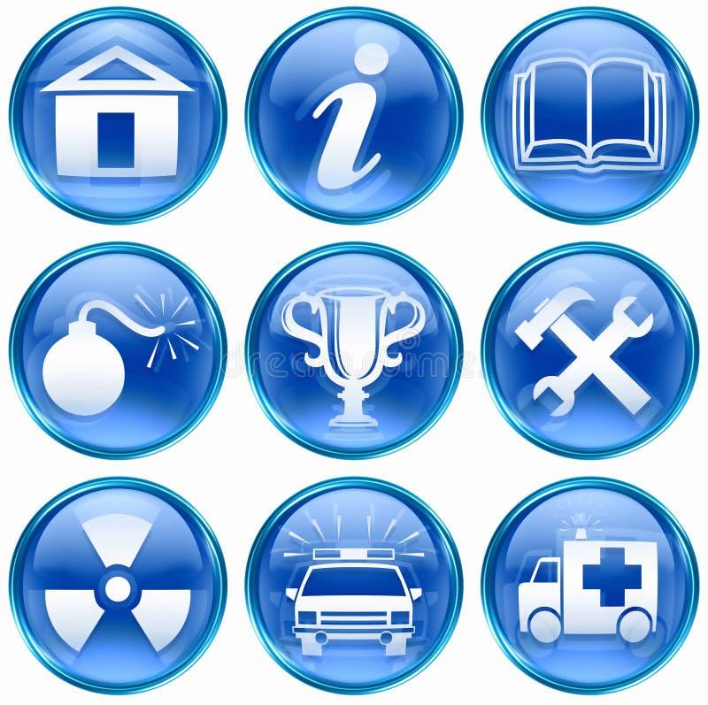 Download Set icon blue #10. stock illustration. Image of hospital - 25492730