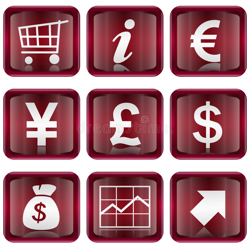 Set icon red #04. stock images