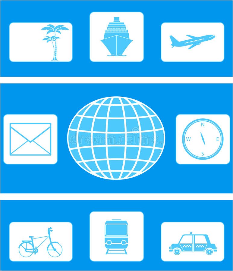 Download Set Of Icon On Travel Royalty Free Stock Photography - Image: 24042367