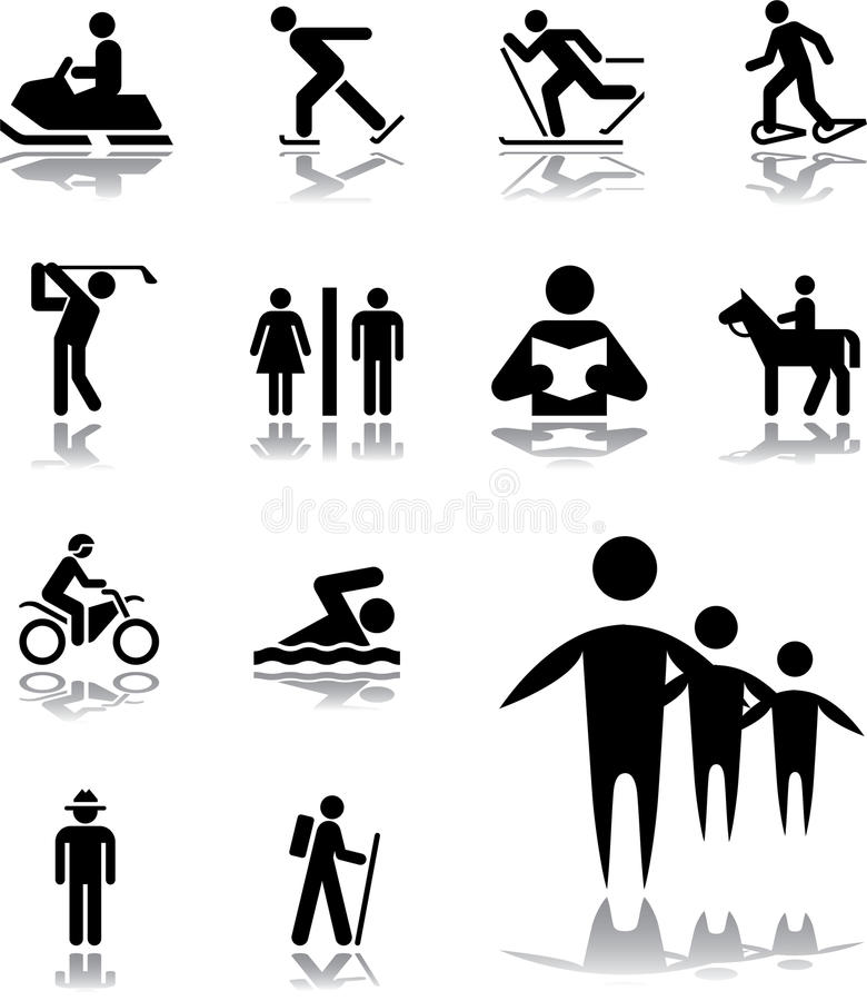 Free Set Icons - 100. Pictographs Of People Stock Photography - 11498602