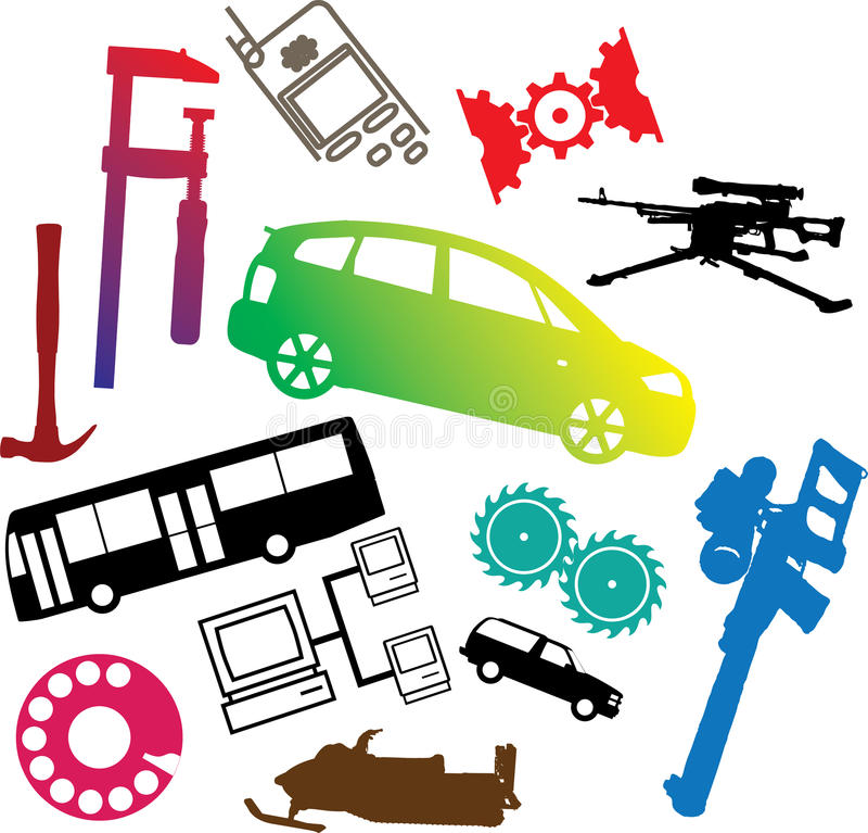 Download Set Icons - 108C. Machines And Technologies Stock Vector - Image: 11372444