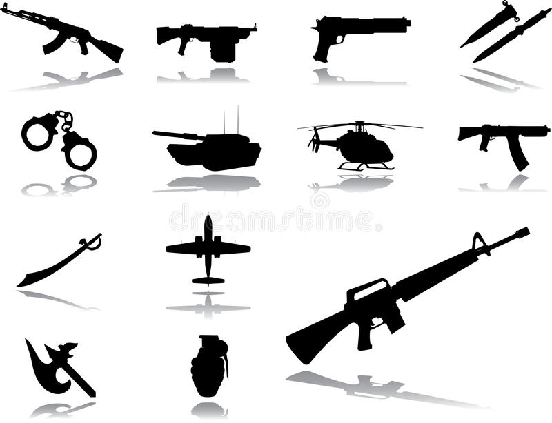 Download Set icons - 154. Weapon stock illustration. Image of icon - 11887929