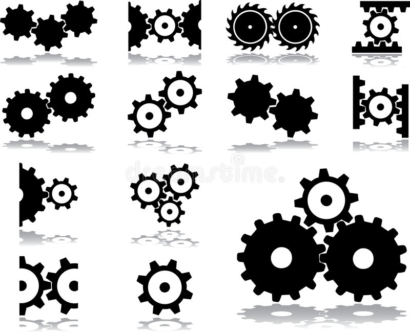 Download Set icons - 31. Gears stock vector. Image of button, image - 5841086