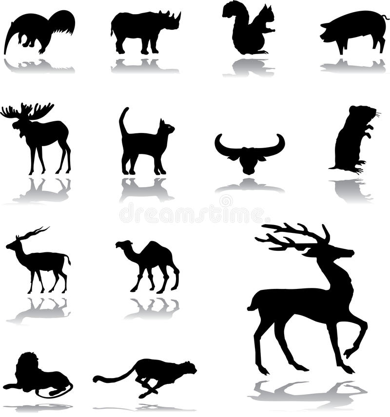 Download Set icons - 159. Animals stock vector. Illustration of prairie - 30046158