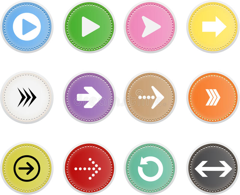 Set Of Icons Arrow royalty free illustration