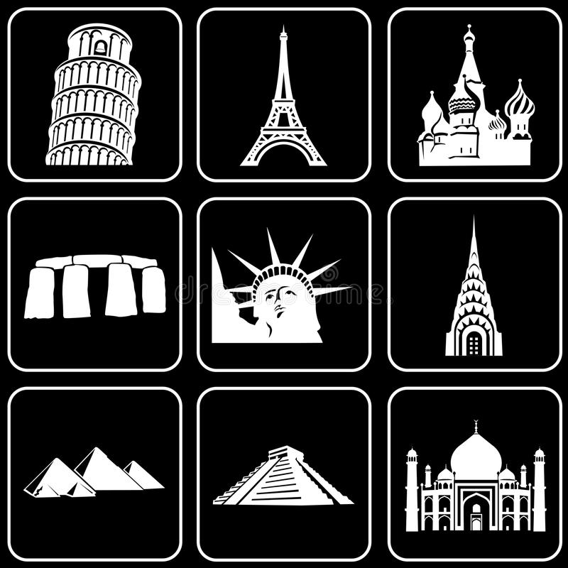 Set of icons (buildings, ancient, history)