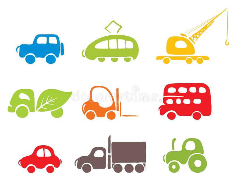 Download Set Of Icons -- Cars Stock Photography - Image: 15322362