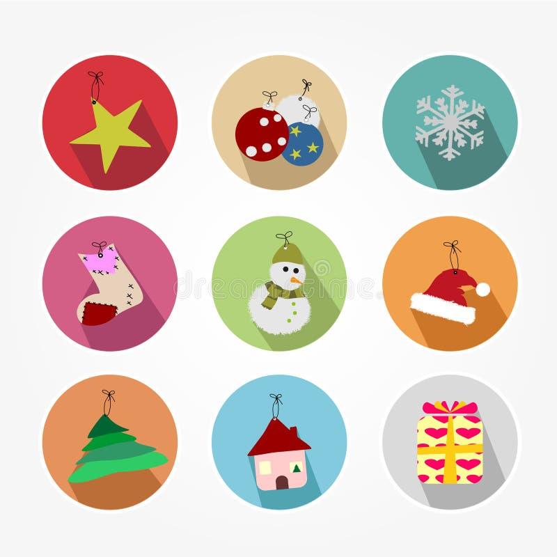 Set Of Icons - Christmas Stock Vector