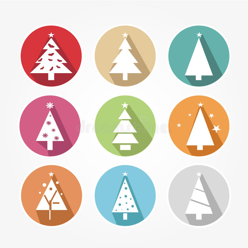 Download Set of icons - Christmas stock vector. Image of abstract - 43240544
