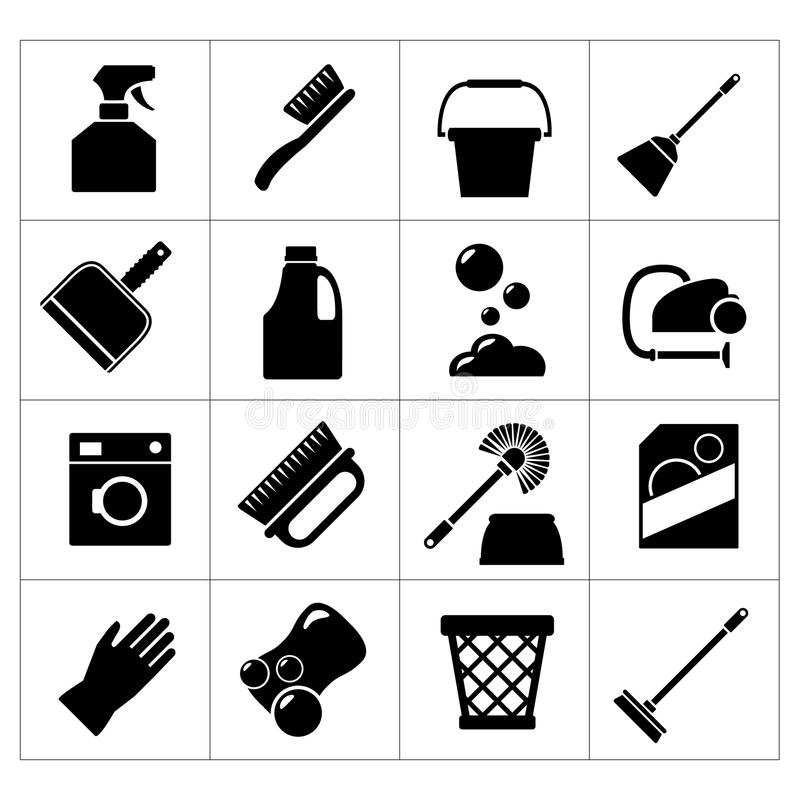 Set icons of cleaning stock illustration