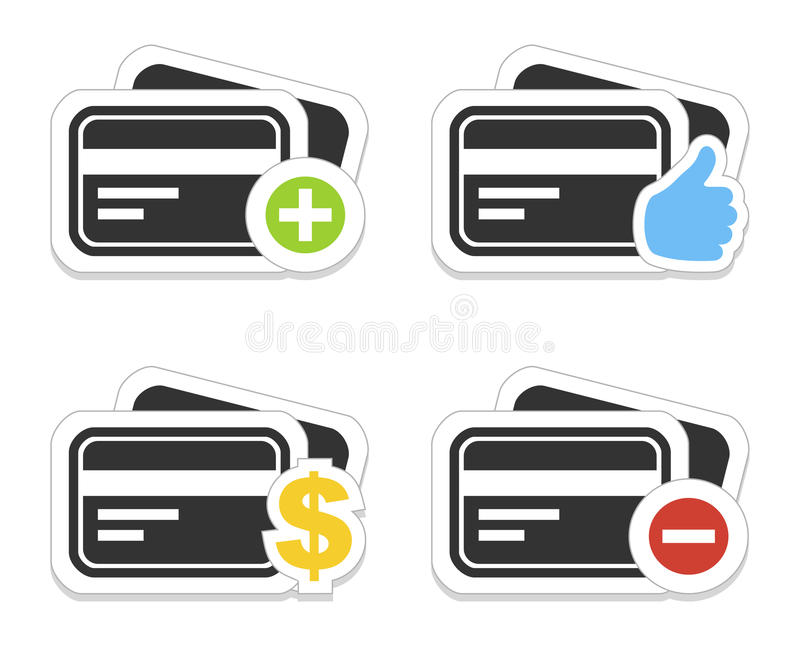Icon a credit card vector illustration