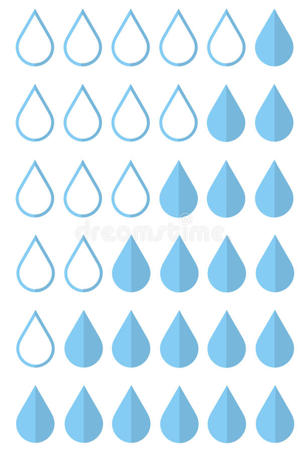 Set of icons a drop menstruation. Drop of blood icon. Feminine hygiene. Vector illustration vector illustration