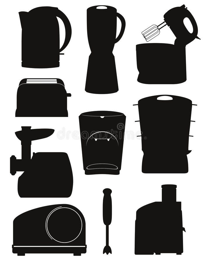 download set icons electrical appliances for the kitchen black silhouette stock vector   illustration of kitchen set icons electrical appliances for the kitchen black silhouette      rh   dreamstime com