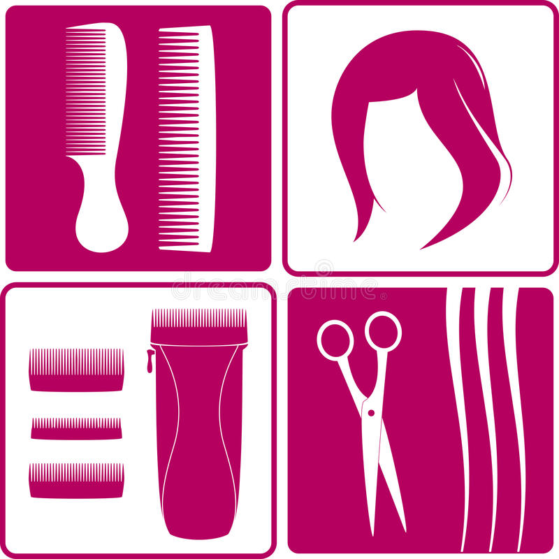 Download Set Icons For Hair Salon Stock Photos - Image: 35786573