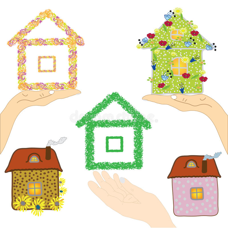 Download Set Of Icons With Houses Stock Photo - Image: 19539560