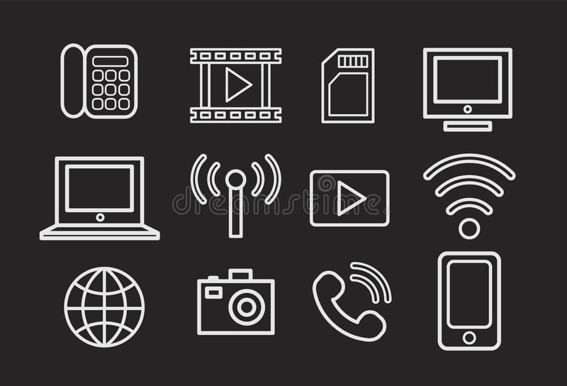 Set of icons. Internet of things. Smart house.Smart home. Set of icons. stock photography
