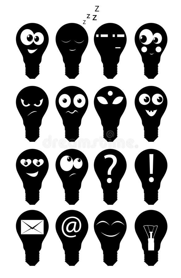 Download Set of icons lamps stock vector. Image of comical, icon - 20482285