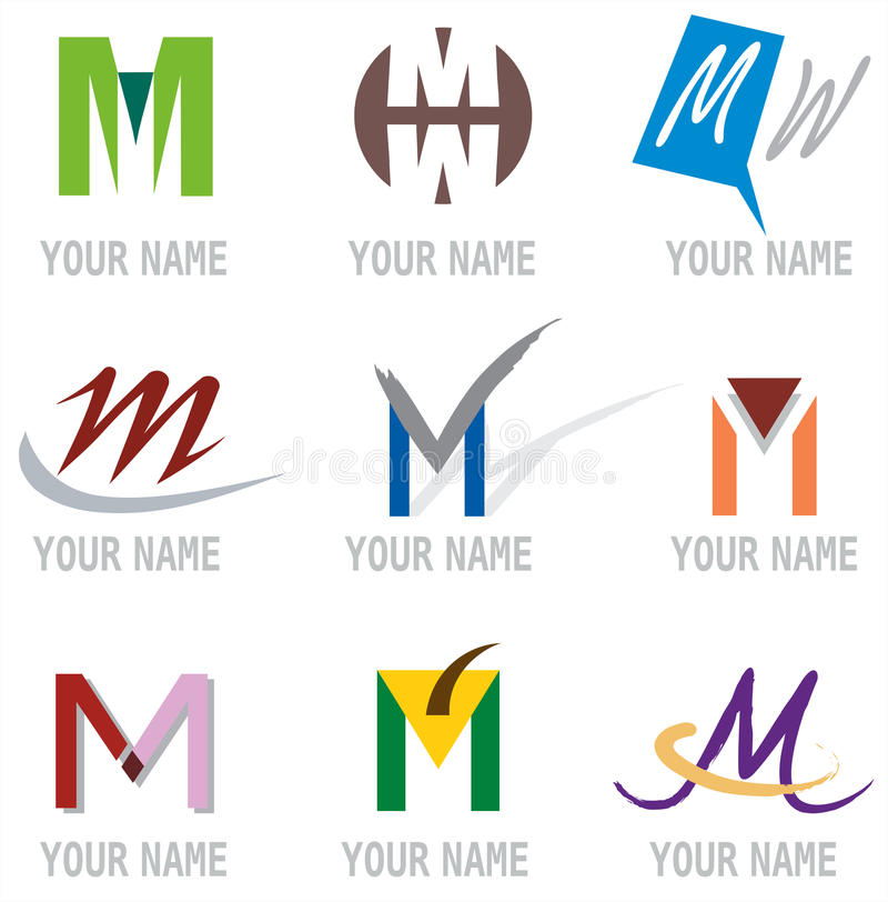Download Set Of Icons And Logo Elements Letter M Vector Illustration Stock Vector - Image: 12636787