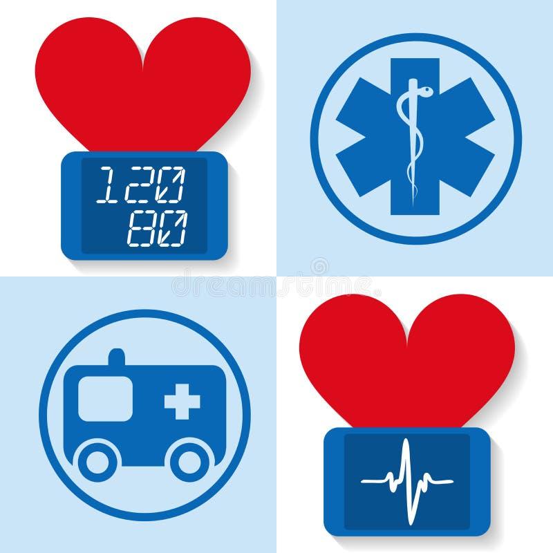 Set of icons for medicine - vector illustration royalty free illustration