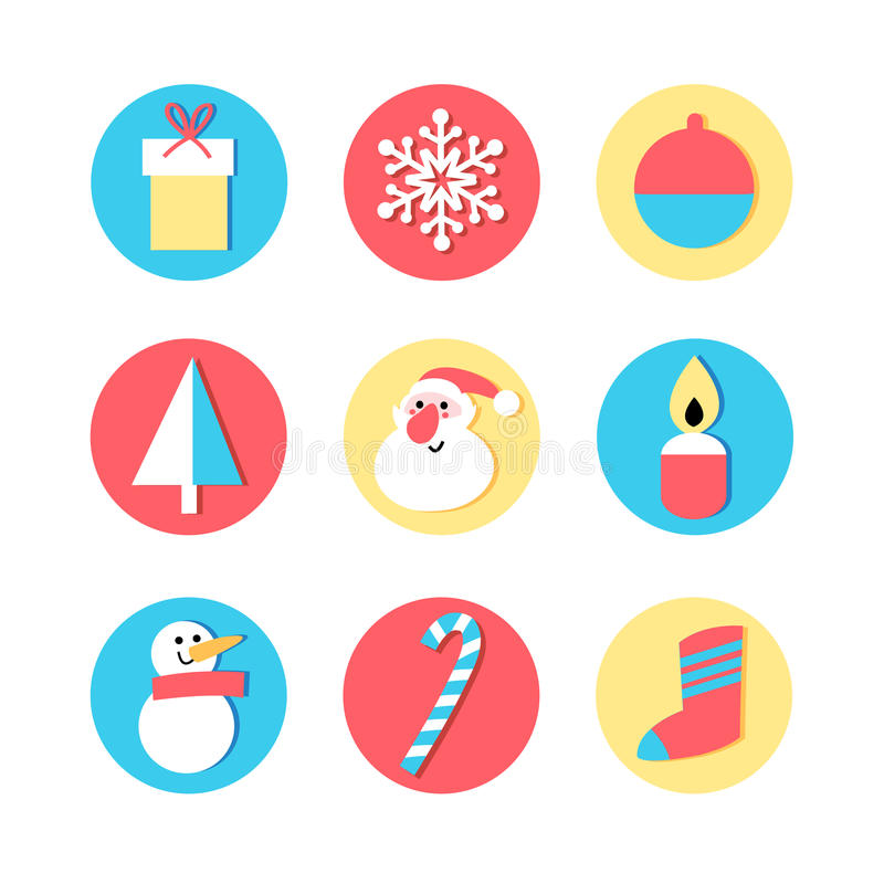 Set of icons for the New Year royalty free illustration