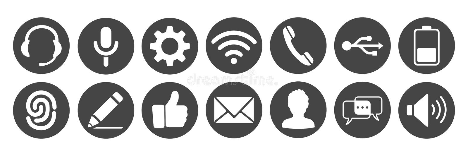 Set icons for phone - vector royalty free illustration