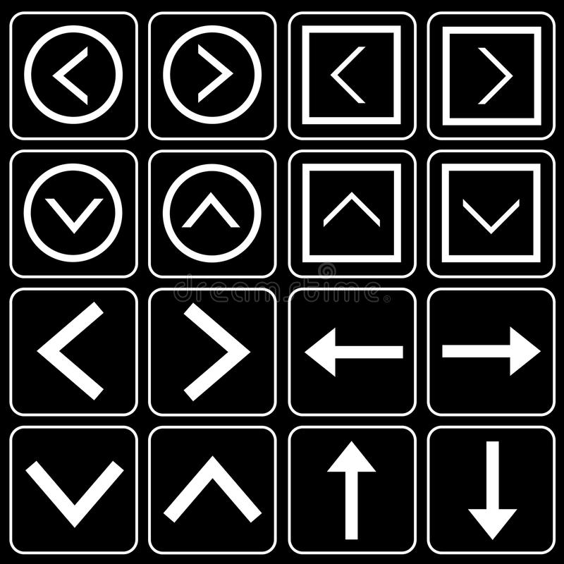 Set of icons (quotes, arrows)